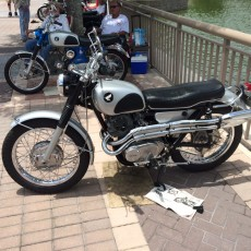Honda Scrambler, identical to the one owned by my grandfather.