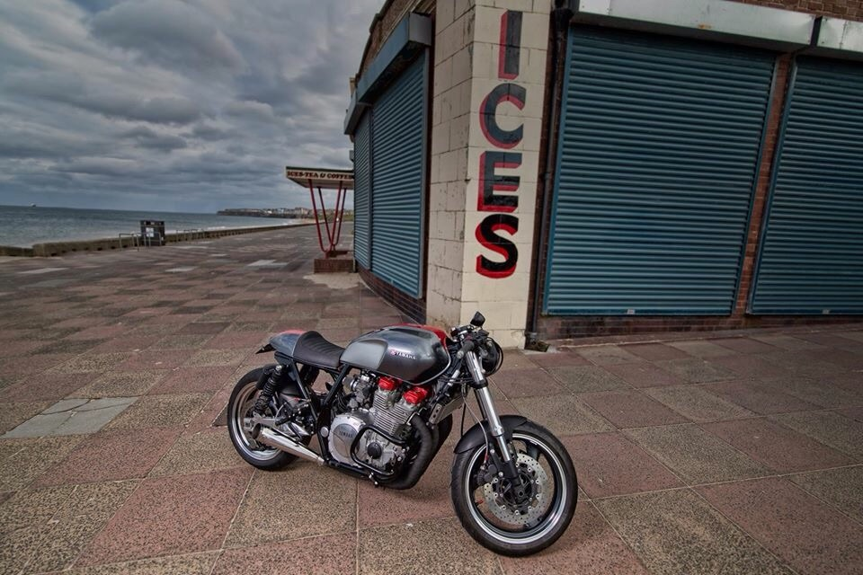 """yamaha xjr1300 cafe racer, """"the widow maker"""" – bikebound"""