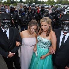 Outlaw Bikers Escort Girl to Prom