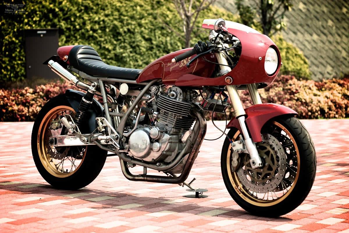 """1983 yamaha sr400 cafe racer, """"dorotea"""" – bikebound"""