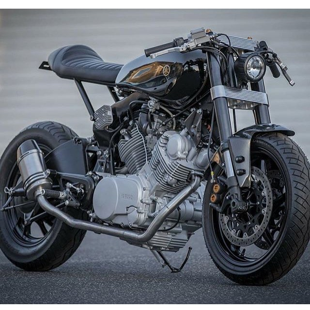Down And Out Cafe Racers Builds Some Of The Sweetest Custom To Come UK This Virago Is No Exception It Sports R1 Forks With Billet Yokes