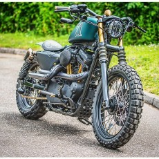 """The Great Escape,"" Sportster Scrambler by Shaw Speed & Custom"