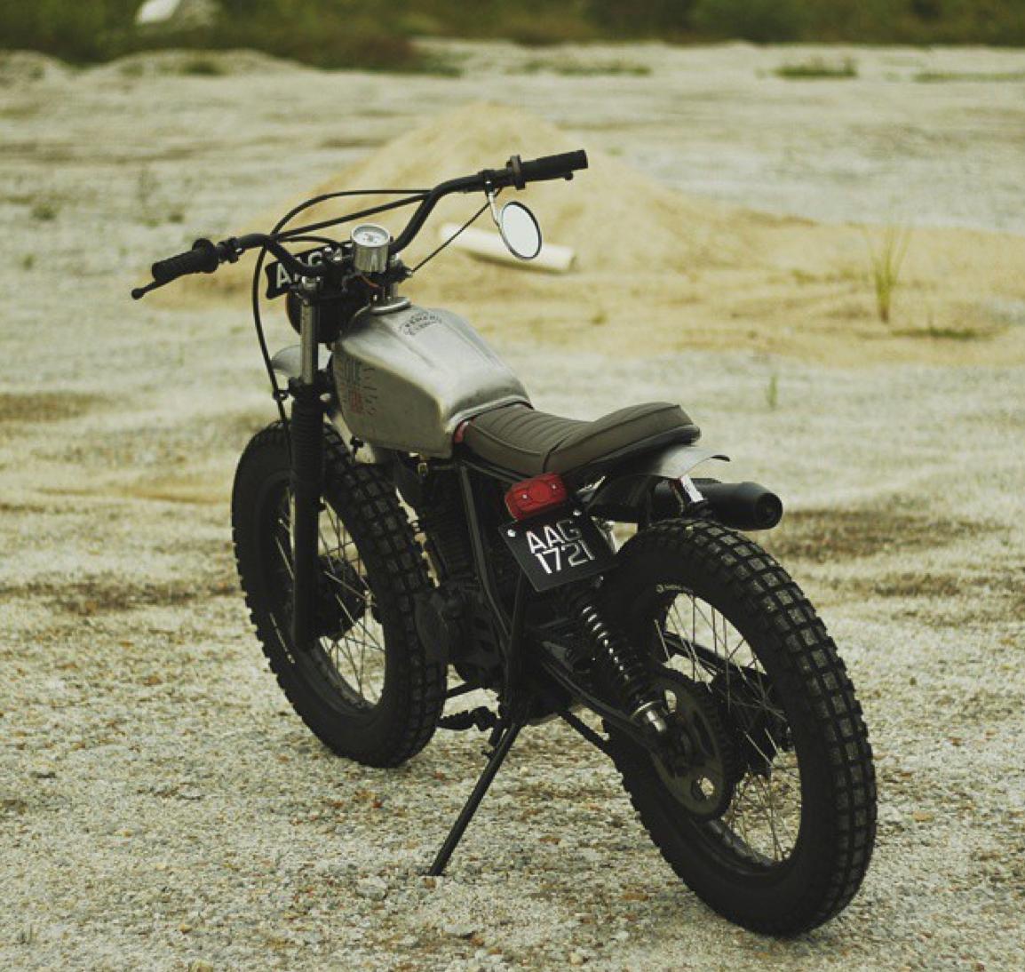 nifty honda xl125 by kemeh fabrications bikebound. Black Bedroom Furniture Sets. Home Design Ideas