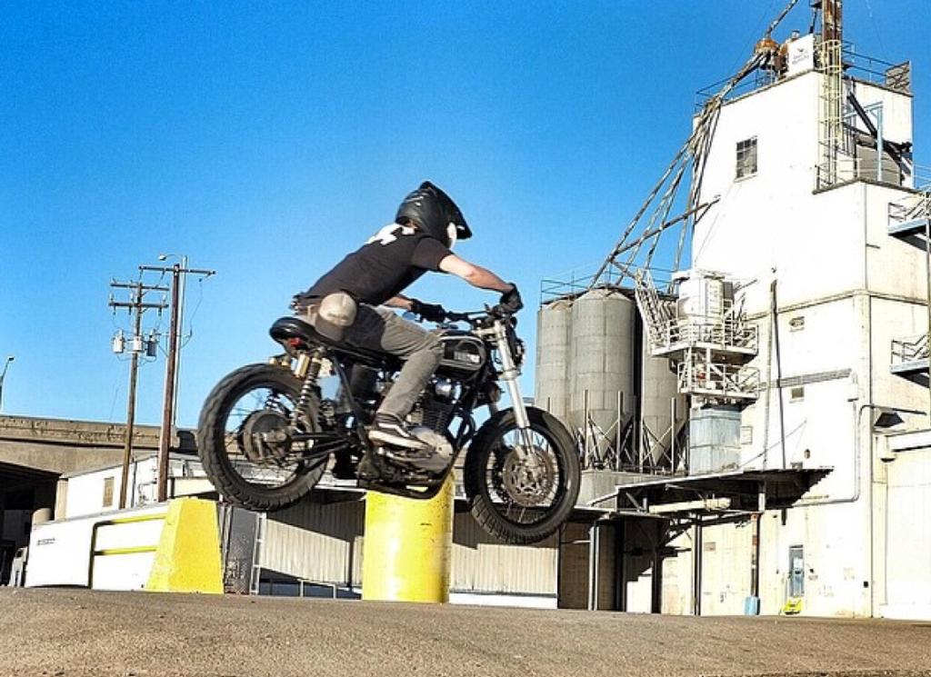Three-Pence-XS650-Jump