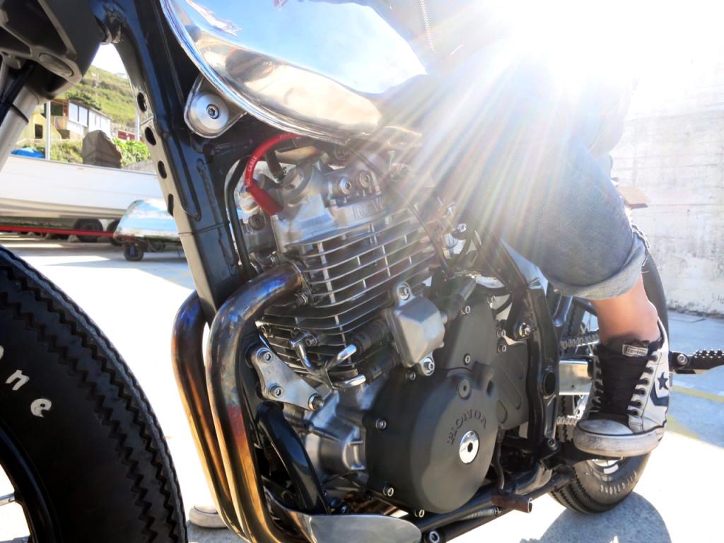 NX650 Custom Engine Shot