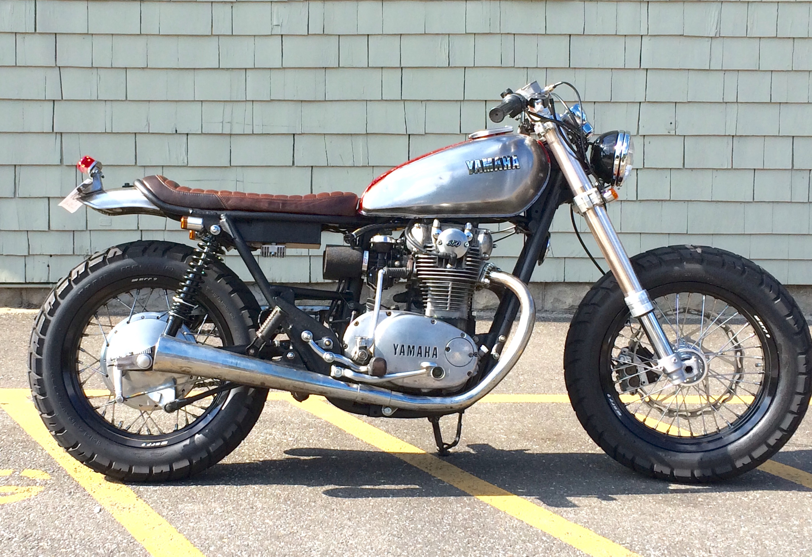 Garage Built XS650 Brat Tracker TruNorth BikeBound