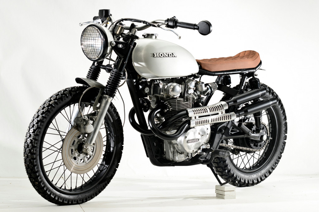 honda cb450 scrambler by steel bent customs  u2013 bikebound