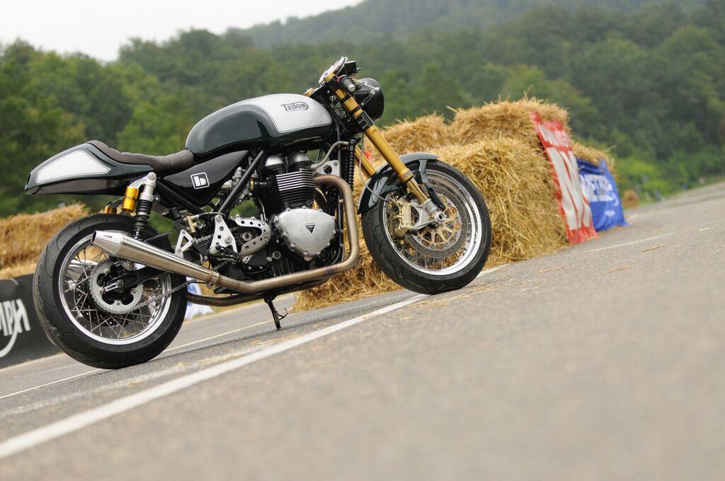 Modern Triton Motorcycle