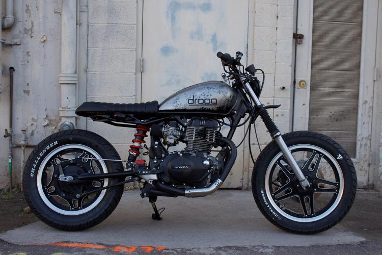 honda cm400 scrambler by droog moto concepts bikebound. Black Bedroom Furniture Sets. Home Design Ideas