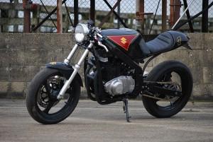 suzuki gs500 cafe racer by so low choppers bikebound. Black Bedroom Furniture Sets. Home Design Ideas