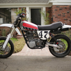 Yamaha XT500 Supermoto by Random Cycles