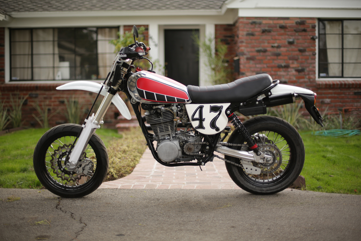 yamaha xt500 supermoto by random cycles bikebound