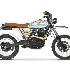 Suzuki DR650 Scrambler by 85 Motorcycle Art