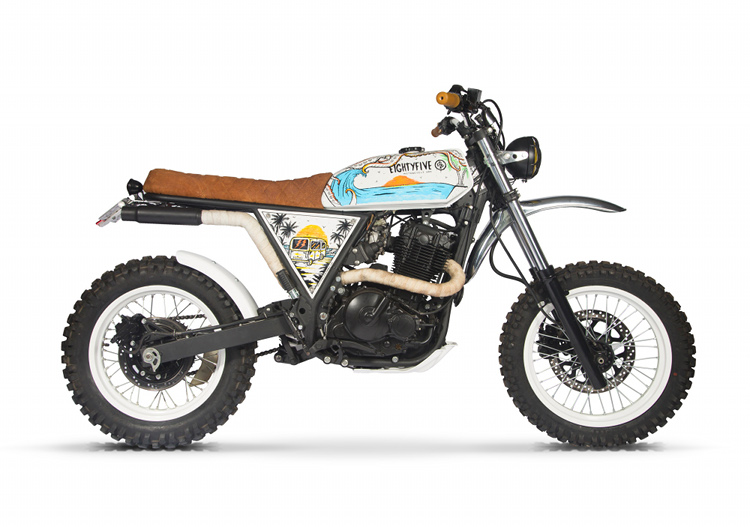 Suzuki DR650 Scrambler By 85 Motorcycle Art BikeBound