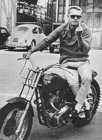 Steve McQueen on a Desert Sled
