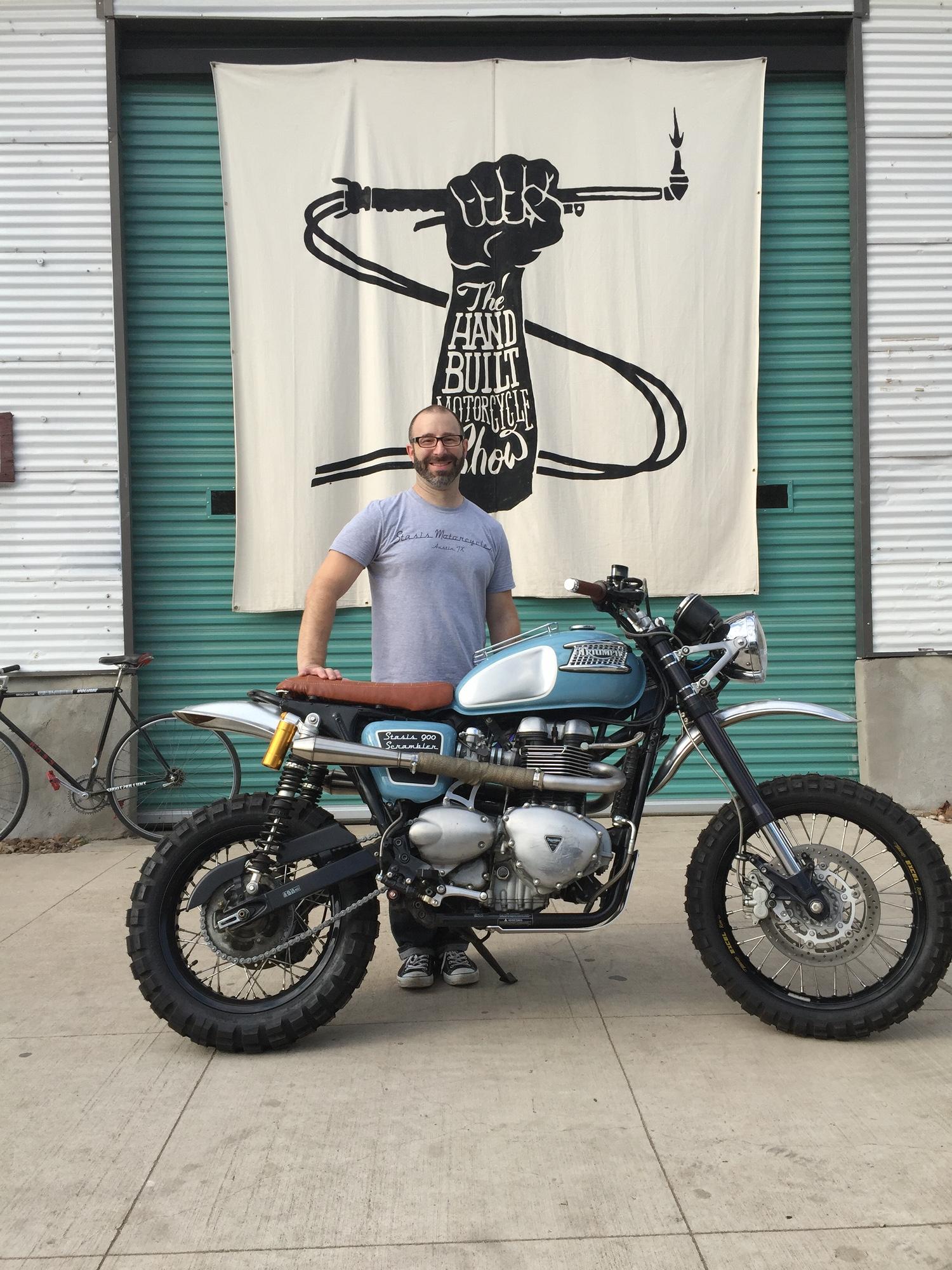 Modern Triumph Desert Sled Stasis Scrambler 900 BikeBound