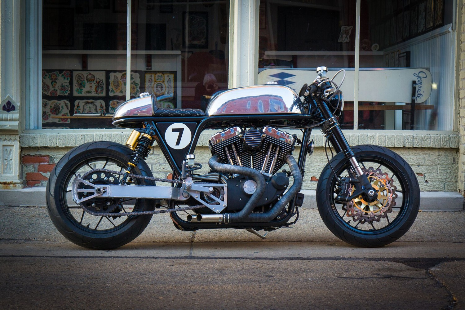 how to turn a sportster into a cafe racer