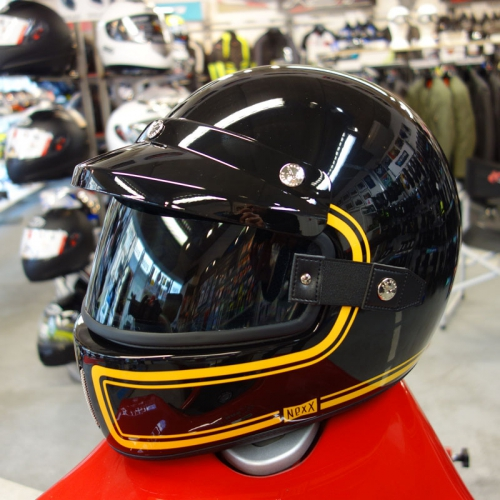 Nexx XG100 With Goggles And Visor Because A Retro Or Cafe Racer Full Face