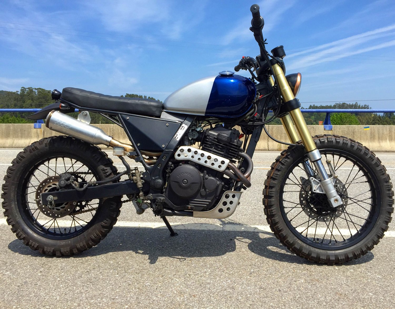 honda nx650 scrambler by mutant motorcycles bikebound. Black Bedroom Furniture Sets. Home Design Ideas