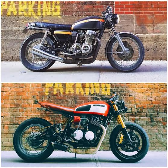 CB750 Before and AFter