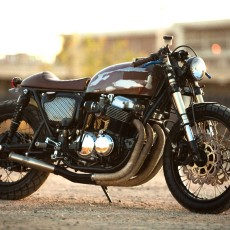 The 750:  CB750 Cafe Racer by Strapped MFG