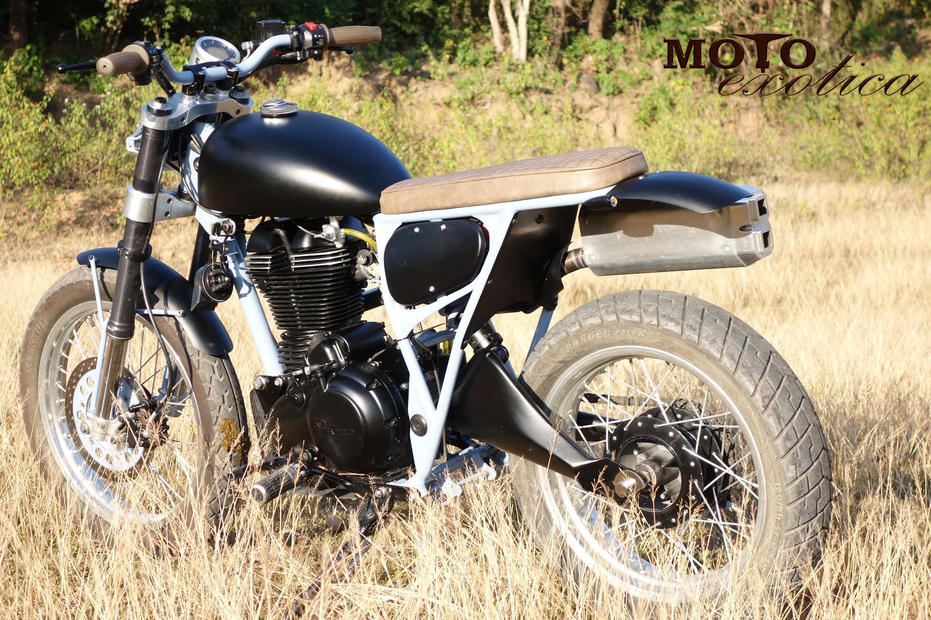 royal enfield scrambler by moto exotica bikebound. Black Bedroom Furniture Sets. Home Design Ideas