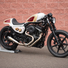 883 Sportster Cafe Racer by Get Lowered Cycles