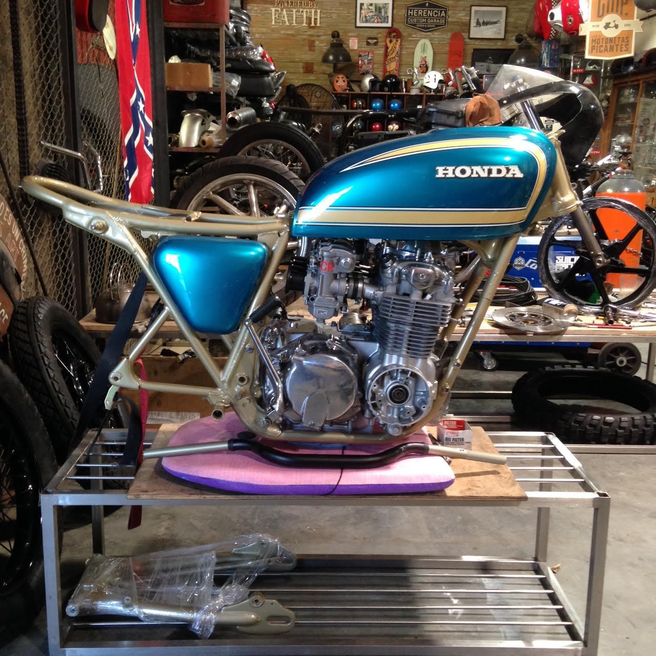 Honda CB550 Tracker by Herencia Custom Garage – BikeBound