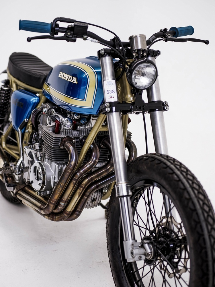 Honda CB550 Tracker By Herencia Custom Garage BikeBound