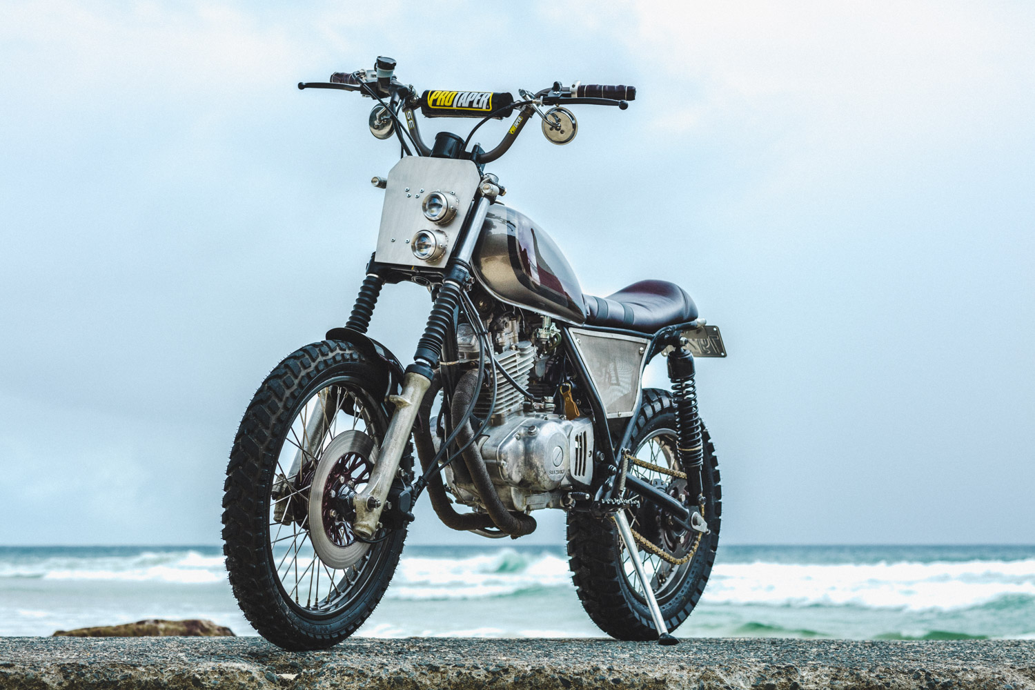 Suzuki GN250 Scrambler by Purpose Built Moto – BikeBound