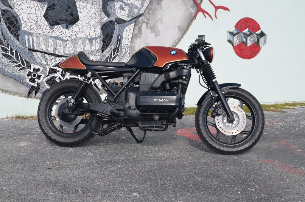 bmw k100 cafe racer by weston customs bikebound. Black Bedroom Furniture Sets. Home Design Ideas