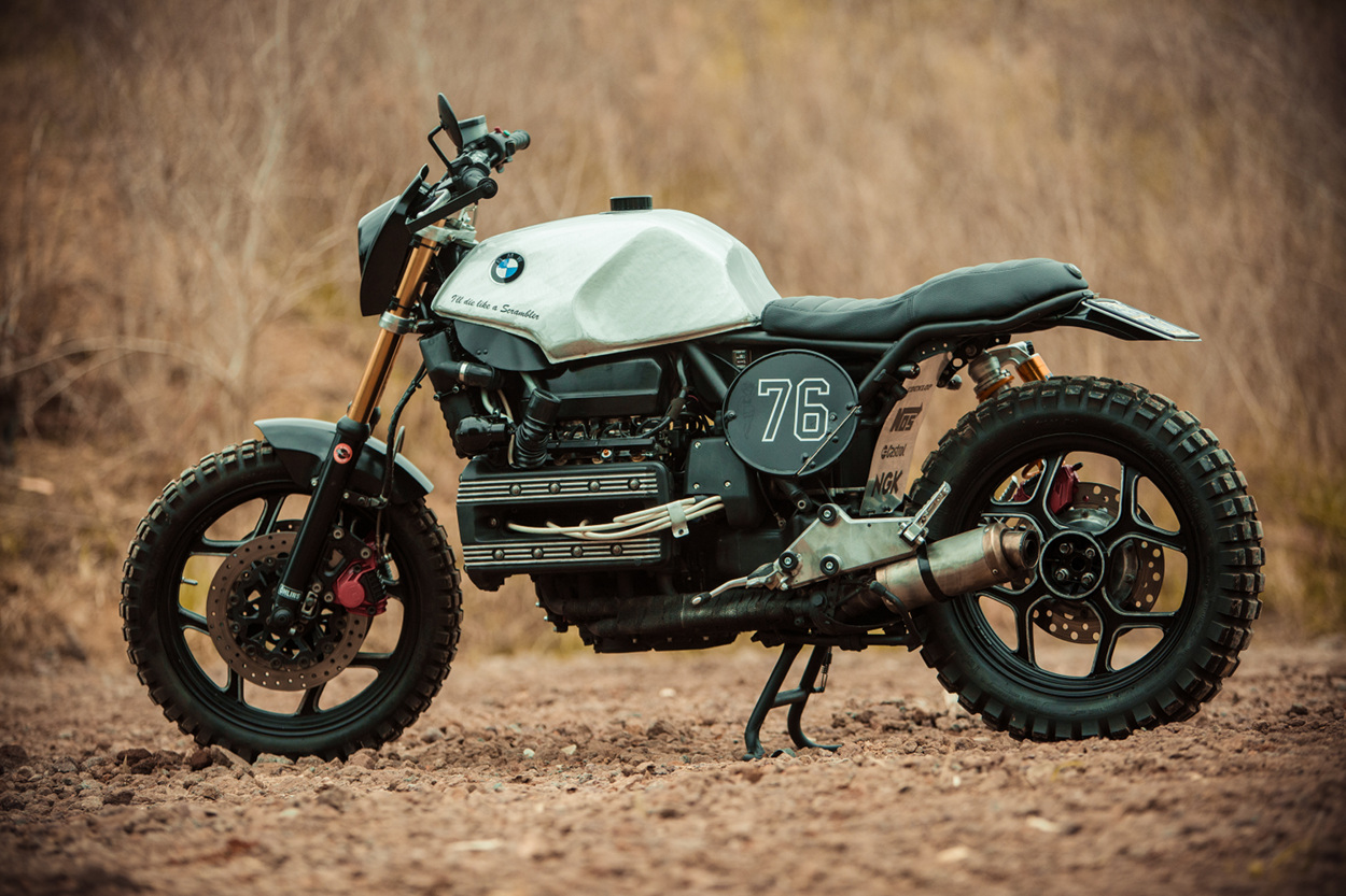 bmw k100 scrambler by de angelis elaborazioni bikebound. Black Bedroom Furniture Sets. Home Design Ideas