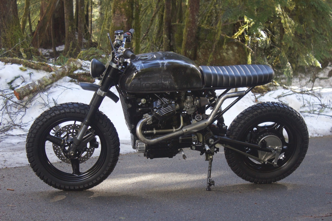 Honda CX500 Scrambler The First Thing Up On List Was Mono Shock And New Subframe We Did A Similar Setup Our Previous CM400 Build It Worked