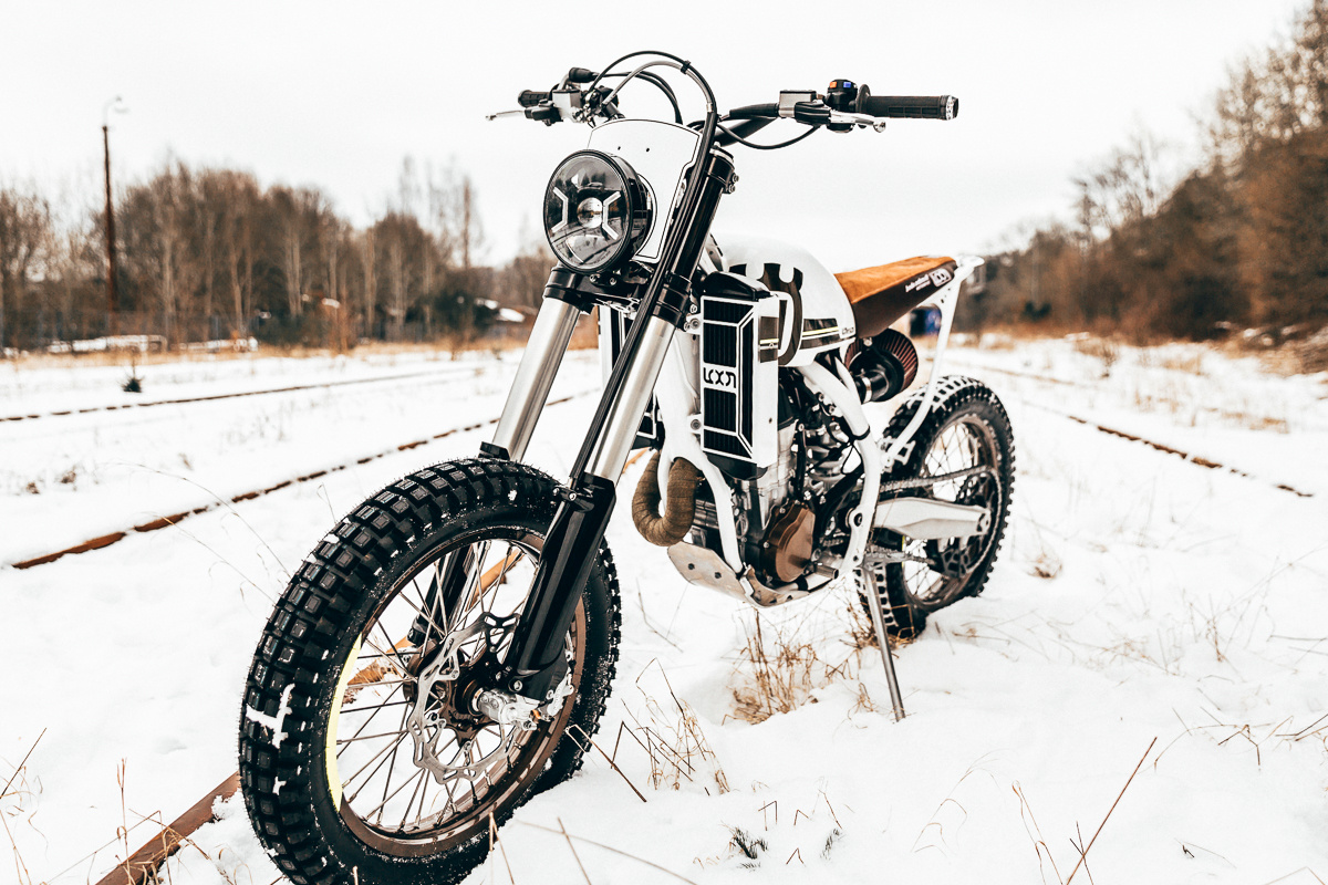 Husqvarna Fe 501 Street Tracker By Loon Bikebound Custom Motorcycle Wiring Harness Bike Retaining Its Emphasis On Performance Incredibly Enough This Was Created With No Alteration Of The Frame Or