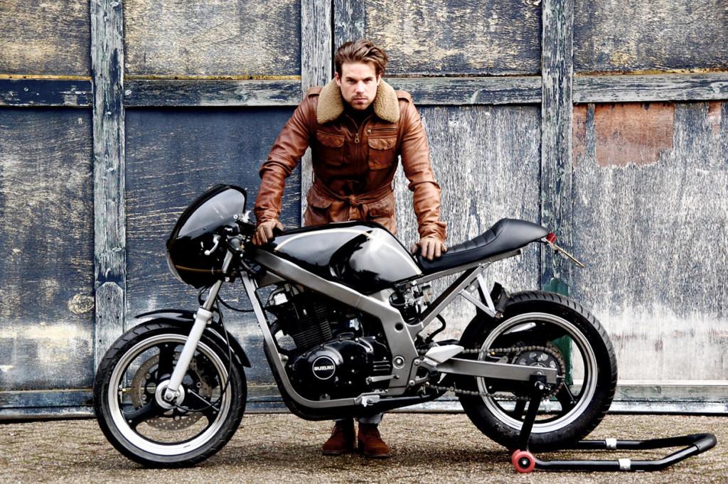 suzuki gs500 cafe racer by motolifestyle bikebound. Black Bedroom Furniture Sets. Home Design Ideas