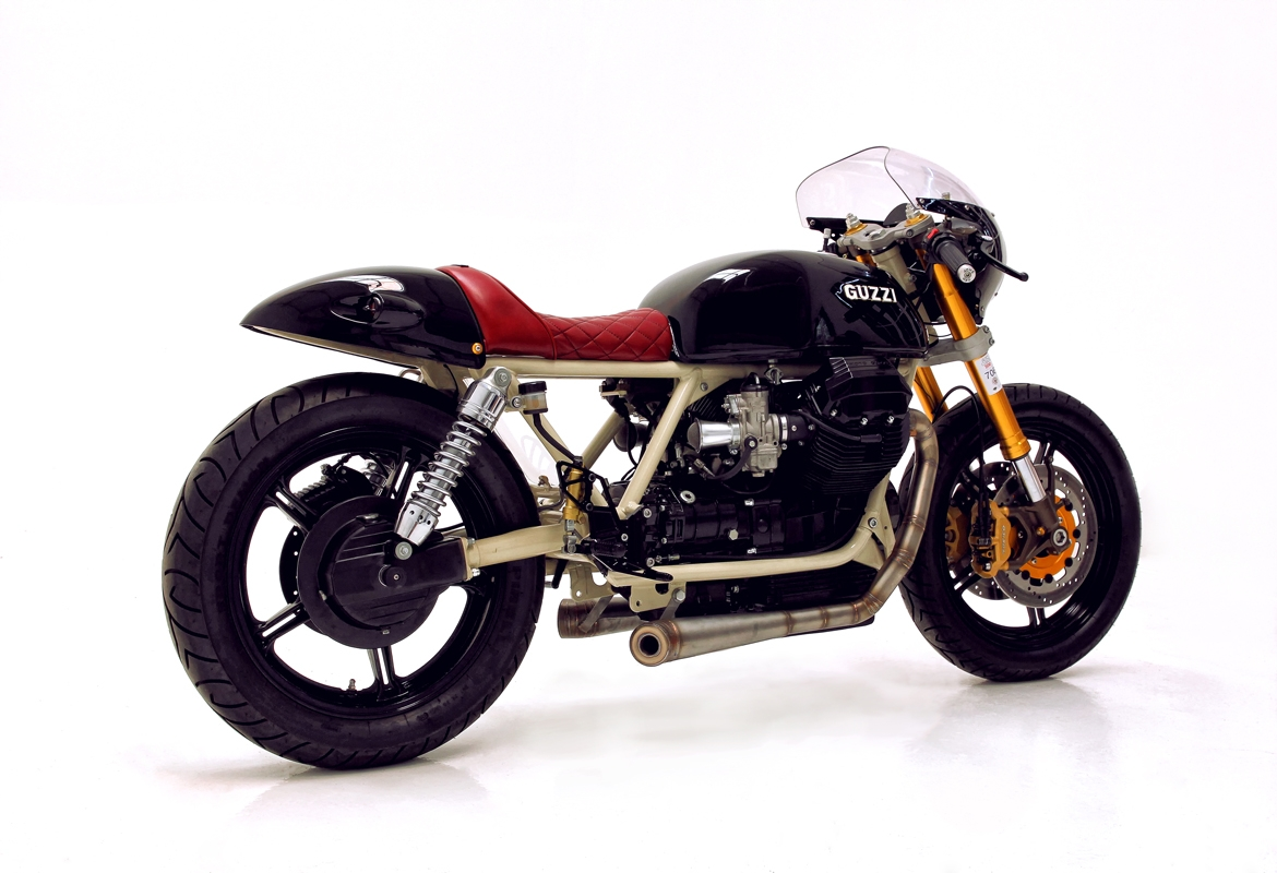 moto guzzi 850 cafe racer by hcg bikebound. Black Bedroom Furniture Sets. Home Design Ideas