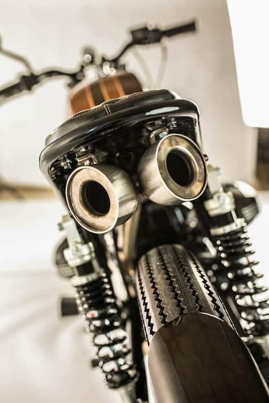 BMW R45 Custom Exhaust