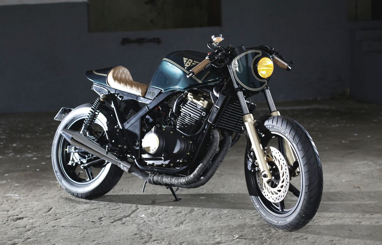 honda cb500 cafe racer by bold motorcycles bikebound