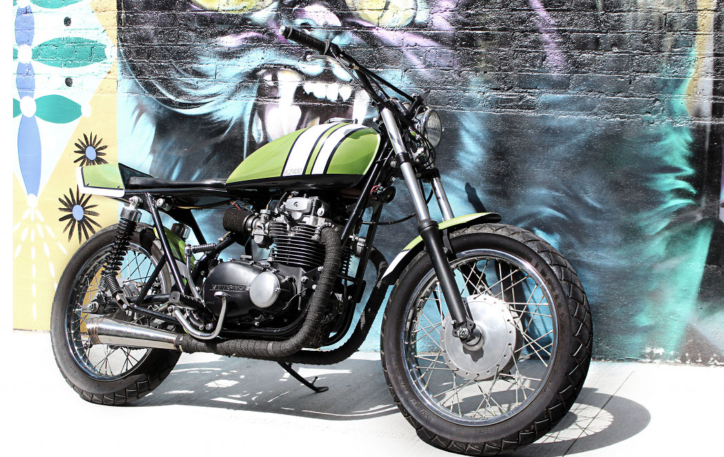 Kawasaki KZ400 Tracker Below We Get The Full Story From Buck Knitt An Architectural Designer And Airbrush Artist Whose Inspiration For This Build
