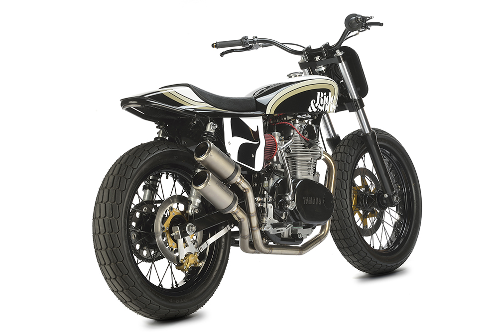 Yamaha xs650 street tracker oval 79 bikebound for Dirt track garage