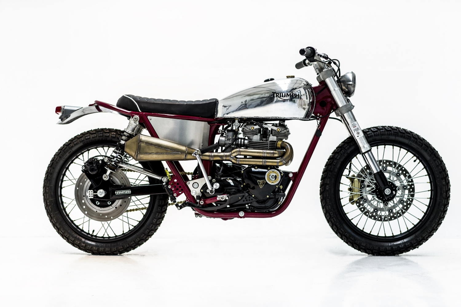 Triumph T140 Scrambler By Herencia Custom Garage Bikebound
