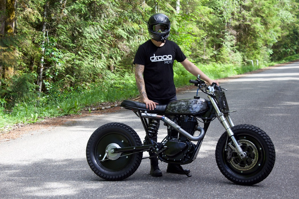 suzuki savage scrambler by droog moto bikebound. Black Bedroom Furniture Sets. Home Design Ideas