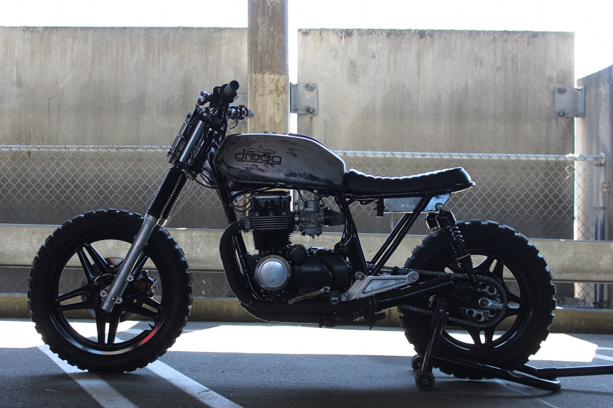 The Husband Wife Team Of Droog Moto Has Become One Our Favorite Builders Their Bikes Are Burly Raw Knobby Tired Machines Built To Blast Down Fire