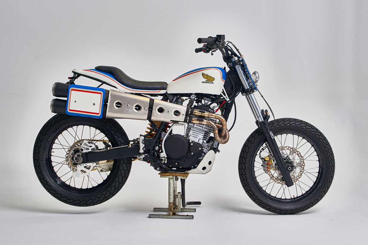 honda xr600 street tracker by vintage addiction bikebound. Black Bedroom Furniture Sets. Home Design Ideas