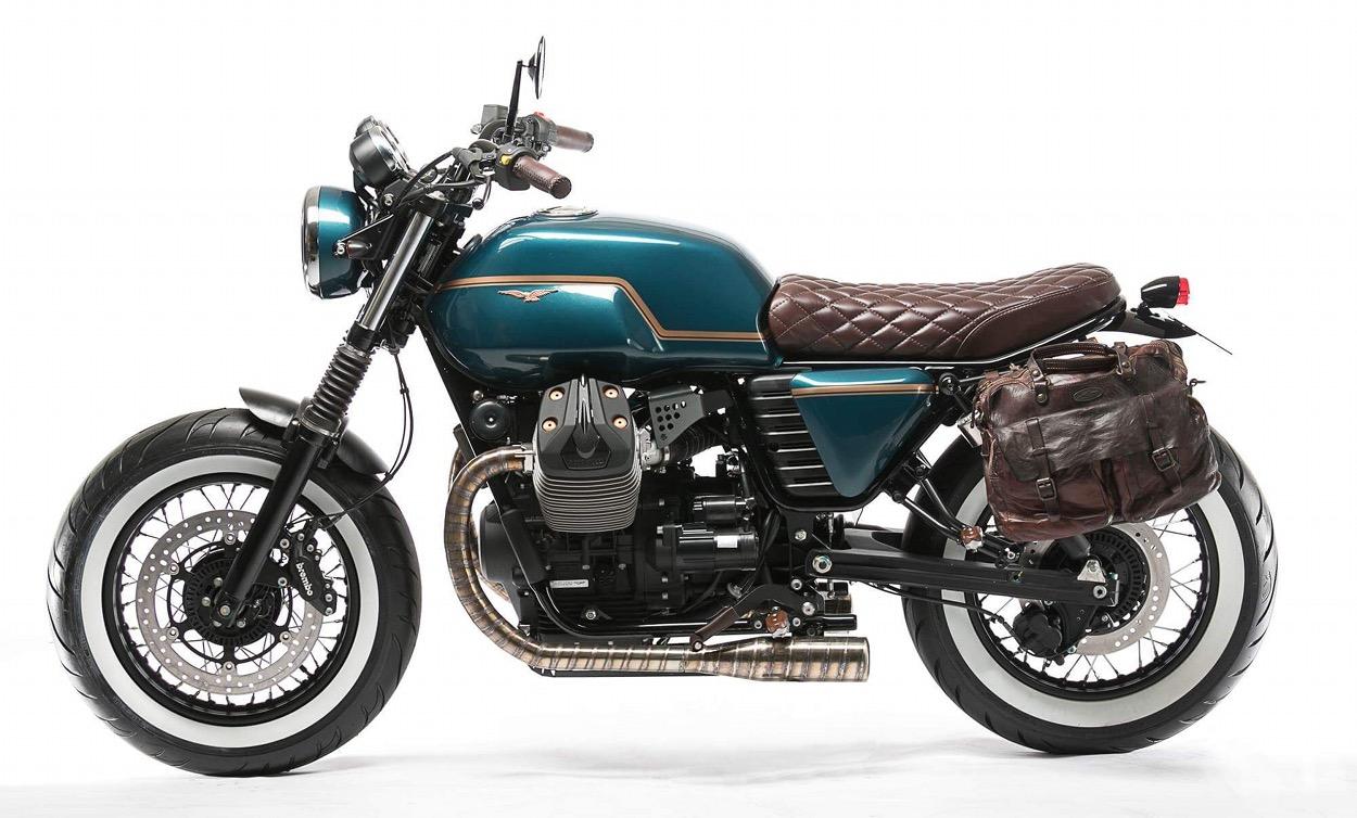 custom moto guzzi v7 by unik edition bikebound. Black Bedroom Furniture Sets. Home Design Ideas