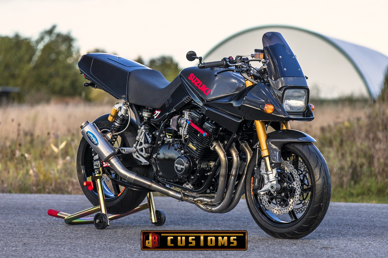 suzuki katana restomod by db customs bikebound. Black Bedroom Furniture Sets. Home Design Ideas
