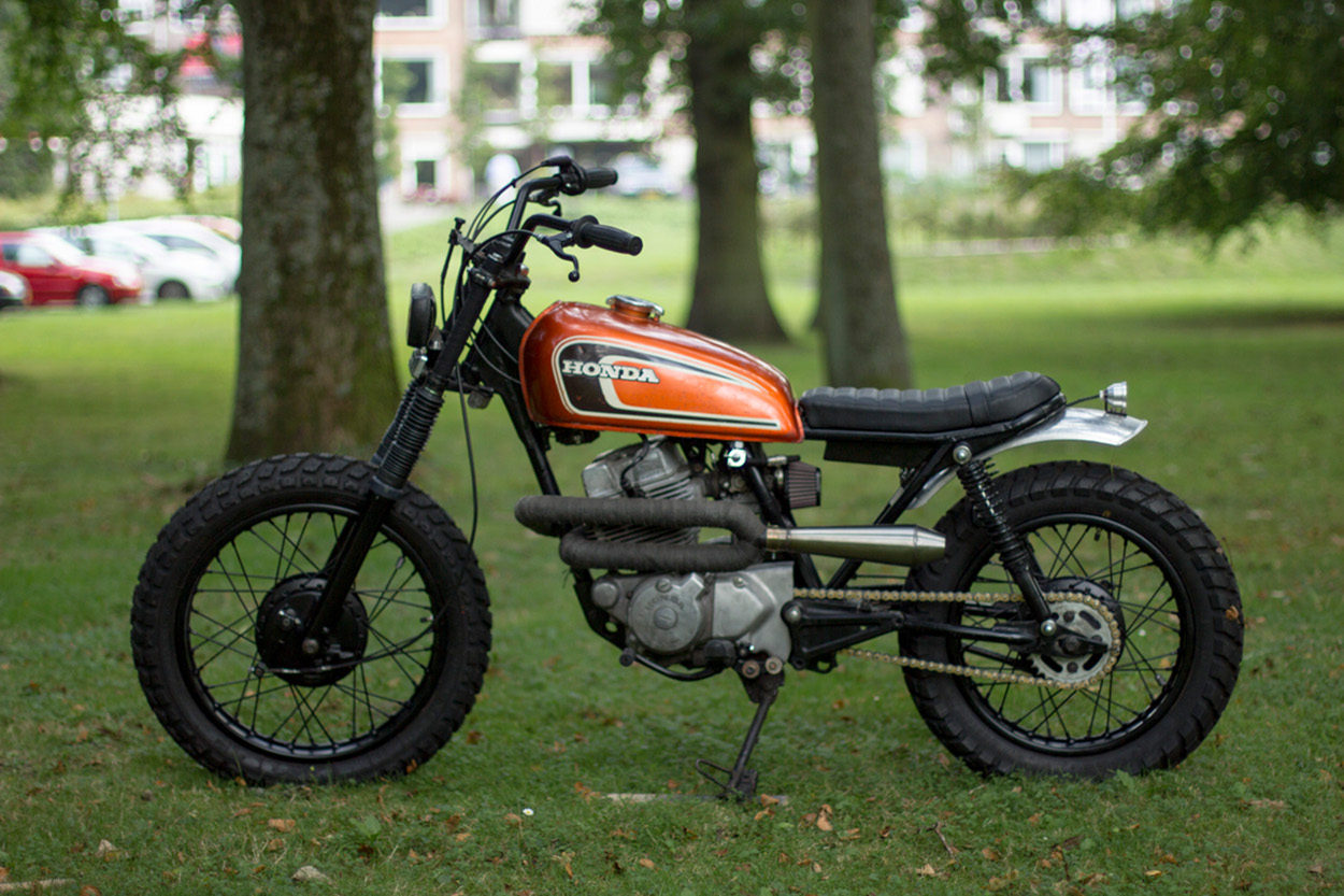 honda cm250 scrambler by max inhulsen bikebound. Black Bedroom Furniture Sets. Home Design Ideas