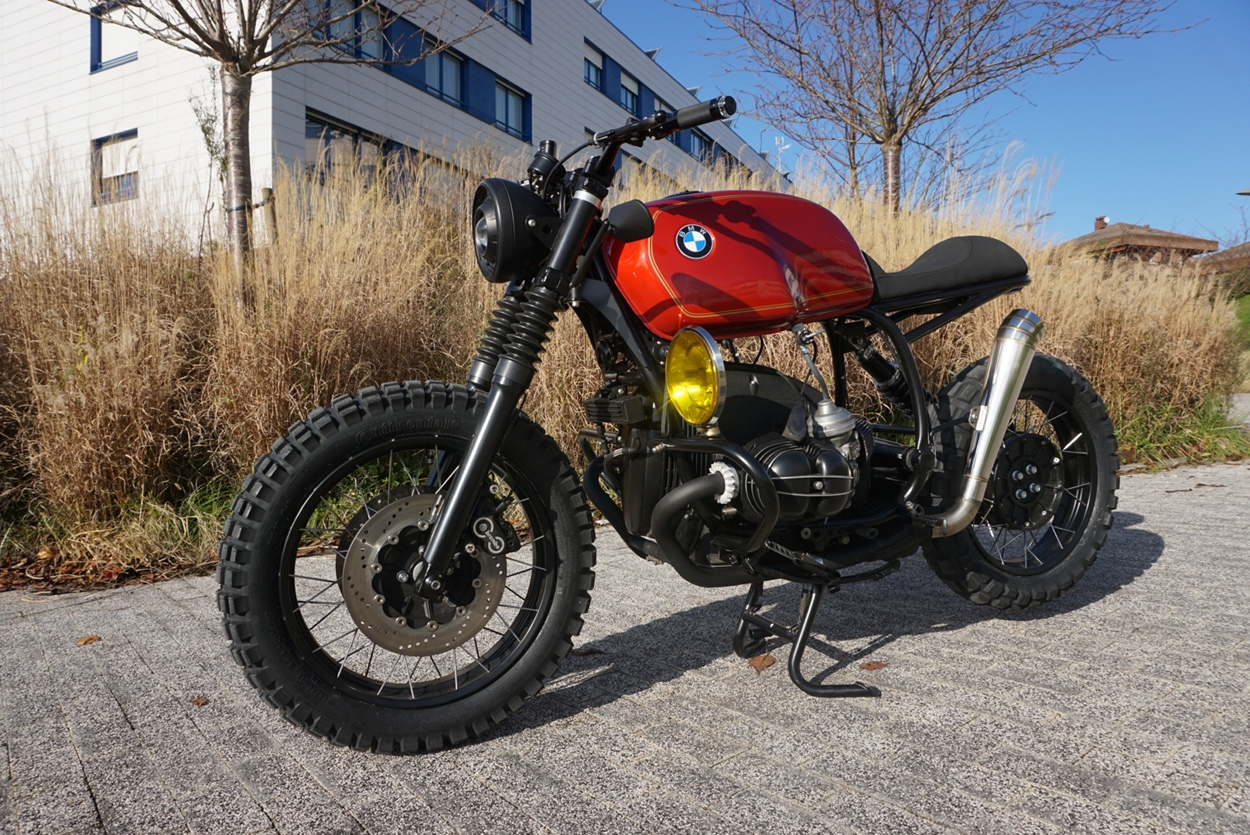 bmw r100r scrambler by cafe racer sspirit bikebound. Black Bedroom Furniture Sets. Home Design Ideas
