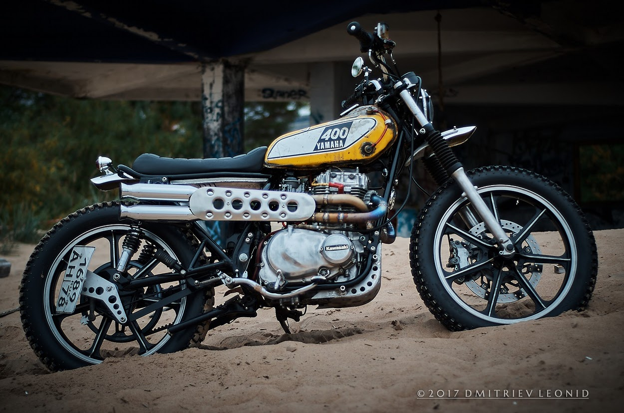 Since Childhood My Passion Is Motorcycles I Work In Workshop Gad13 Castes Kawasaki KZ440 Scrambler