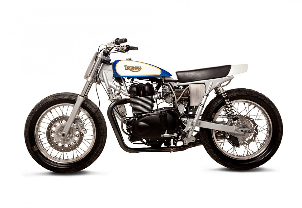 Triumph Street Tracker by British Customs